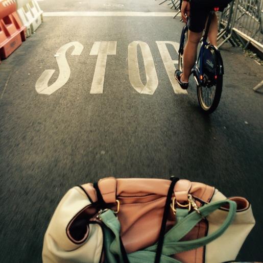 Fietsen op een Citi-Bike in NYC