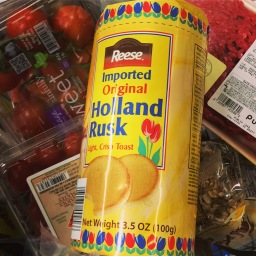 Hollands beschuit in Amerikaanse supermarkt!