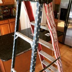 Ladder van patriottistische klusjesman