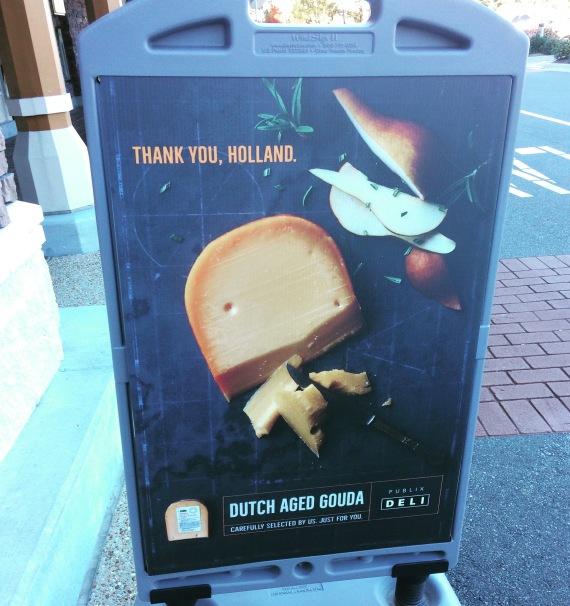 Een bedankje voor de kaas uit Holland!
