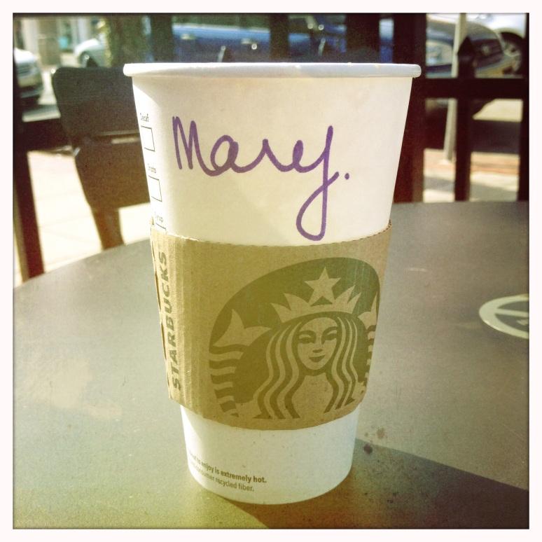 Mijn versimpelde Starbucks naam.