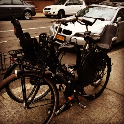 Hollandse fiets in Manhattan