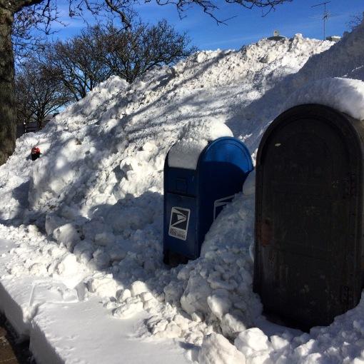 Sneeuwhoop na winterstorm Jonas