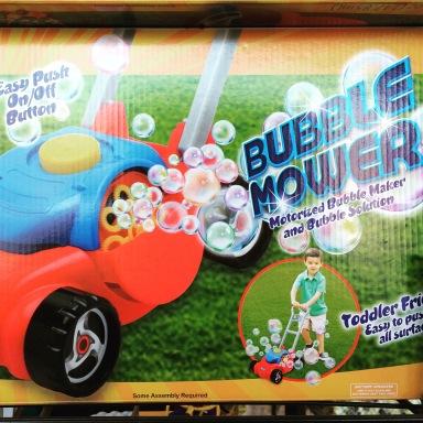 Bellenblaas maaimachine...voor kids