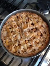 Zelfgemaakte appeltaart