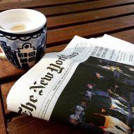 New York Times mét Hollandse koffie