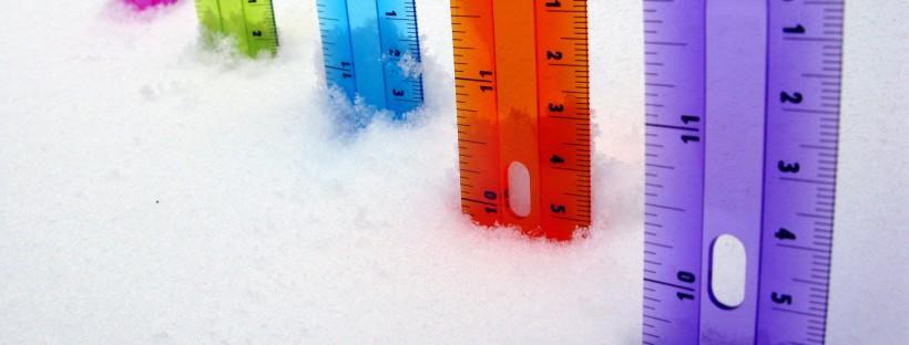 inch sneeuw liniaal Amerika