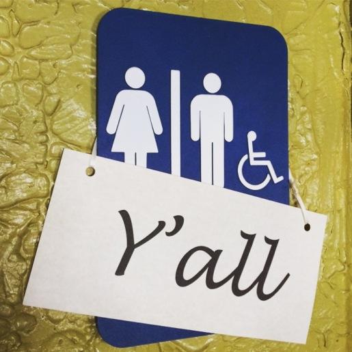 Genderneutrale WC in #Asheville #northcarolina #wc #wereallthesame #yall
